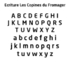 Police - Typographie Les copines du fromager